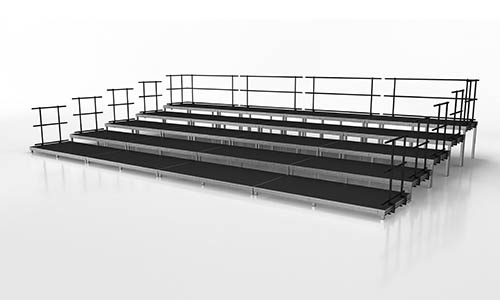 Large seated band or audience riser stage package