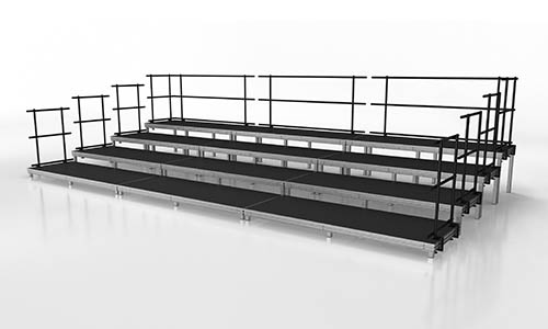 medium seated band or audience stage risers package