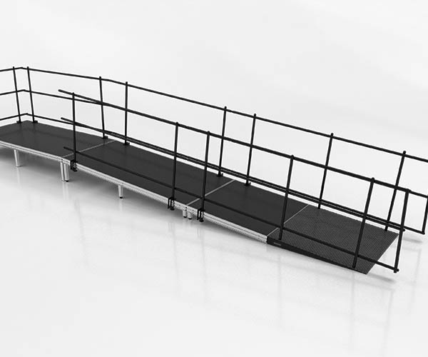 wheelchair ramp stage accessory